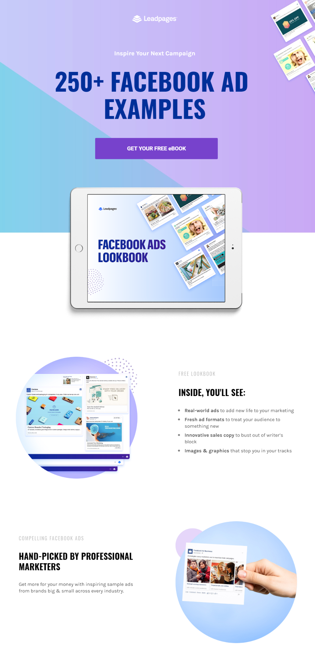250+ FACEBOOK AD EXAMPLES HAND-PICKED BY PROFESSIONAL