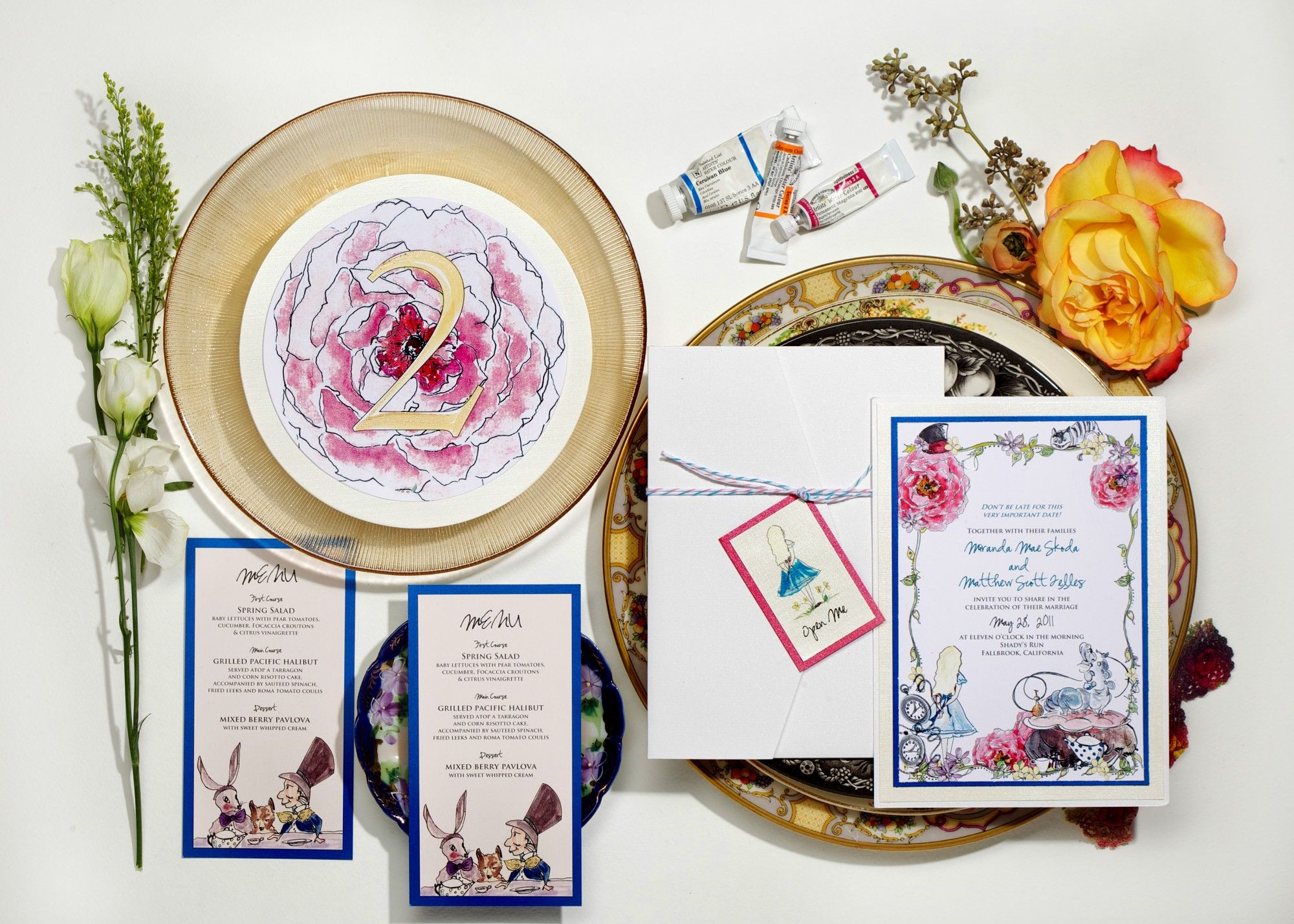 Alice in Wonderland Wedding Invitations | Bat mitzvah, Weddings and ...