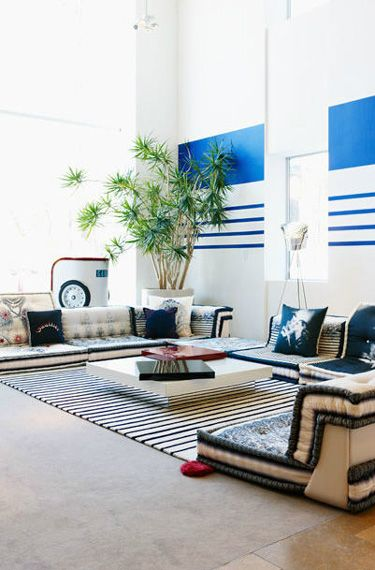 Couches That Are Low To The Ground Stripes Floor Seating