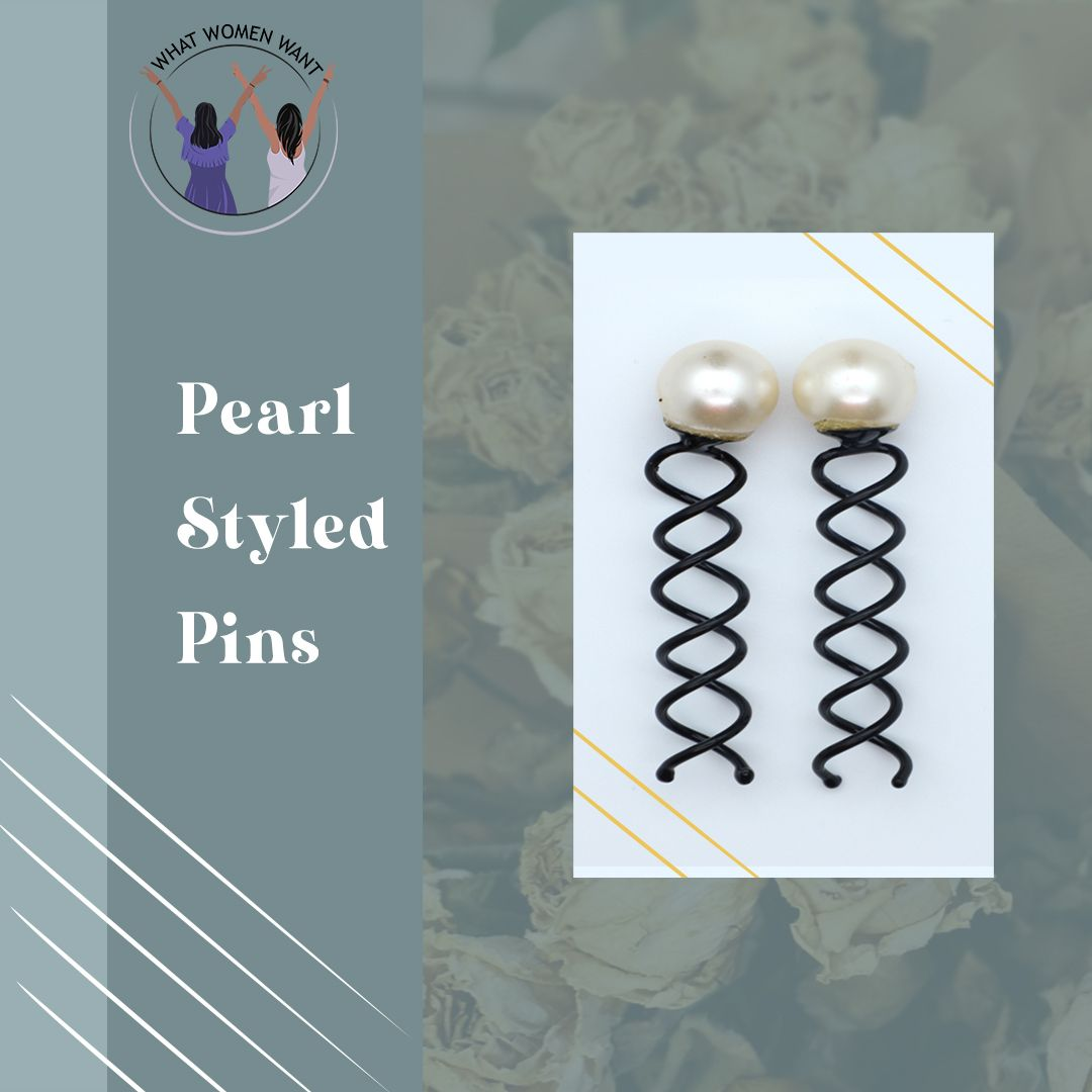 Aiming for a sophisticated look? These Pearl Styled Pins are exactly what you need! #whatwomenwant #hairaccessories #accessory #hairpins #hairstylist #womenaccessories #fashionhairpin #pearljewellery #pearlhairclip