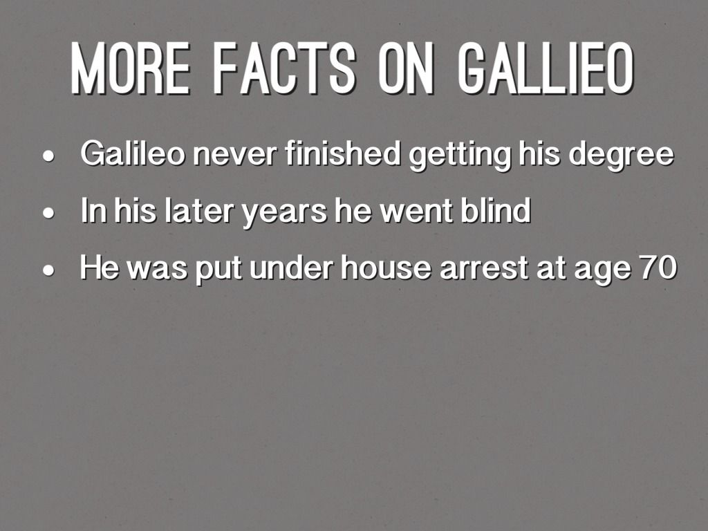 Image Result For Galileo Galilei Facts