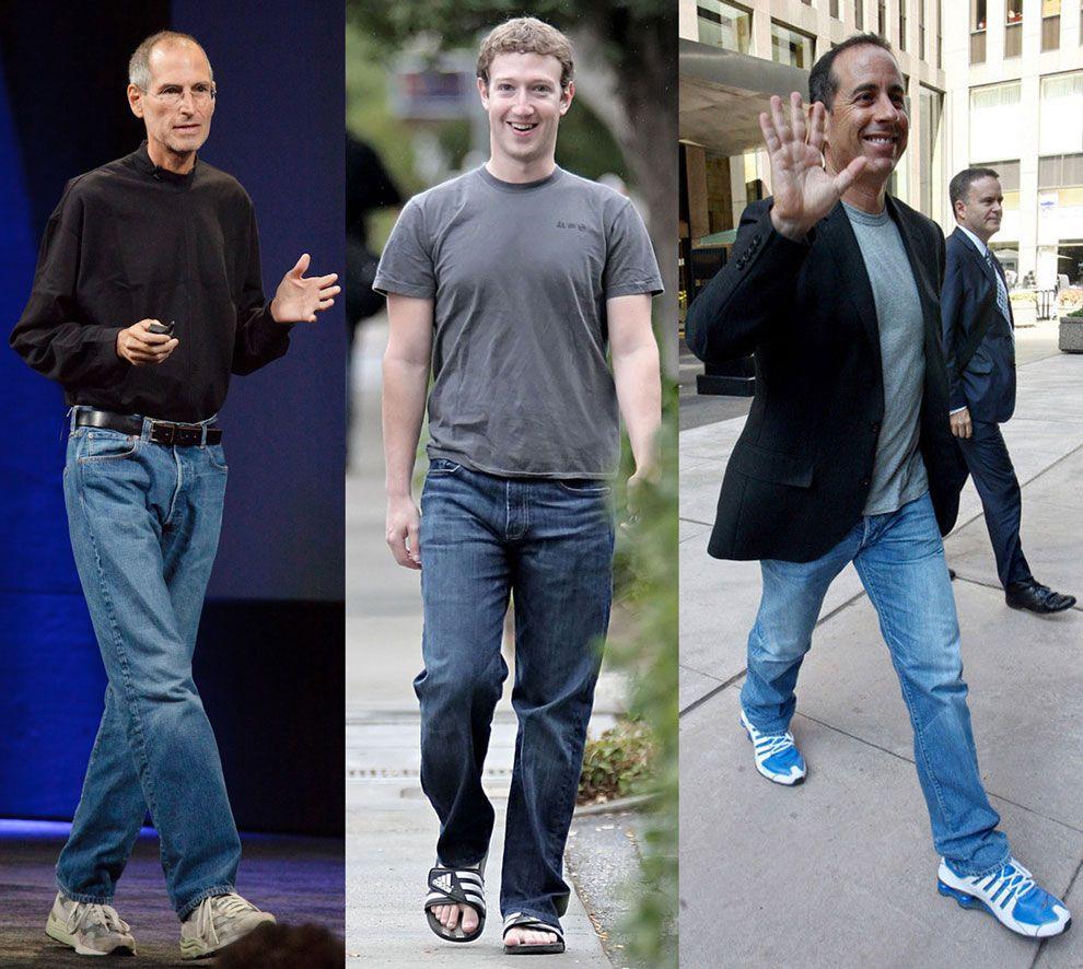 Normcore Idols: Steve Jobs, Mark Zuckerberg e Jerry Seinfeld