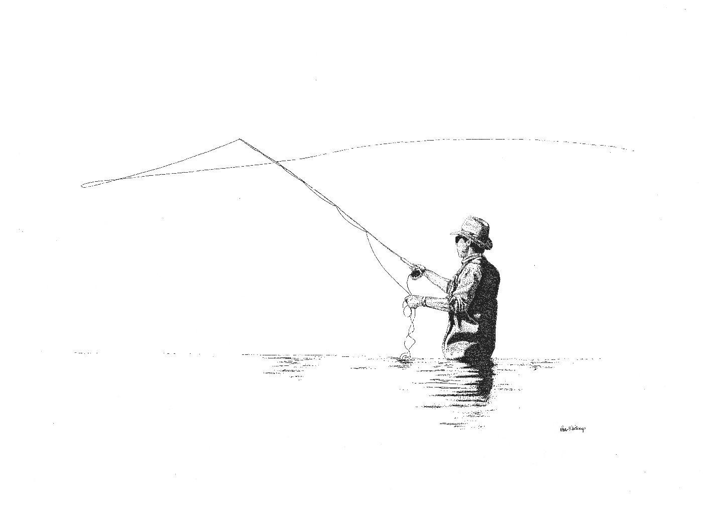 Fly Fishing Drawings A Tribute To Fly Fishermen Com Imagens