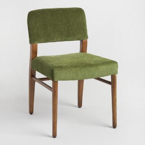 One of my favorite discoveries at WorldMarket.com Green Elysse Split Back Upholstered Chairs & One of my favorite discoveries at WorldMarket.com: Green Elysse ...