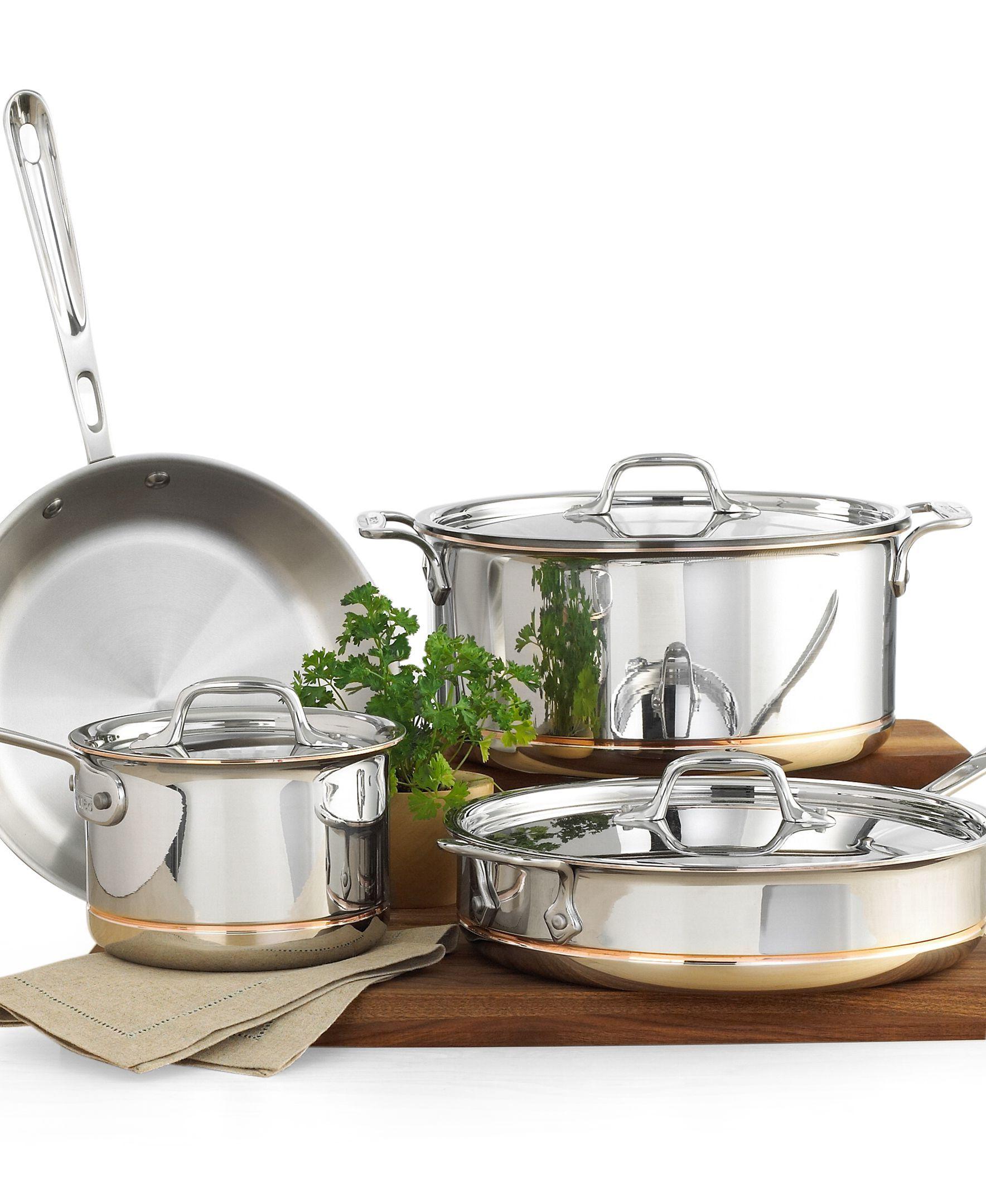 All Clad Copper Core 7 Piece Cookware Set Reviews Cookware Sets Macy S Cookware Set Cookware Sets Kitchen Cookware All clad 7 piece set