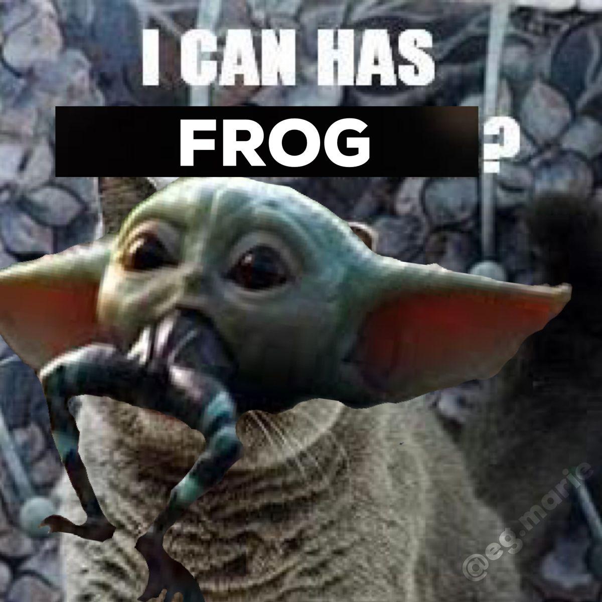 I Can Haz Frog Baby Yoda Yoda Meme Yoda I Can Haz