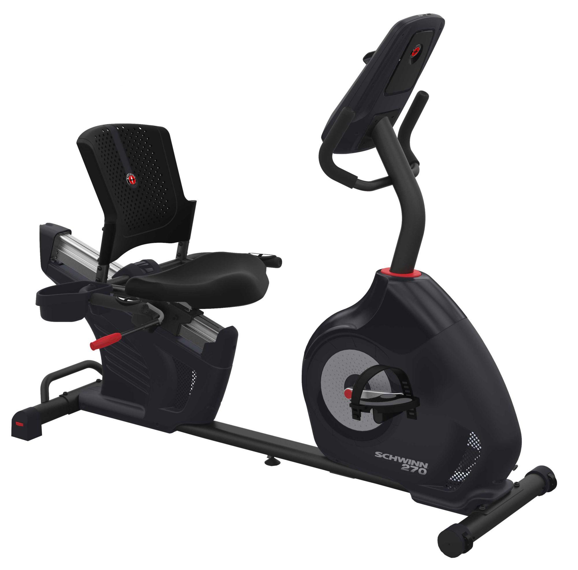 Schwinn 270 Recumbent Exercise Bike Recumbent Bike Workout Biking Workout No Equipment Workout