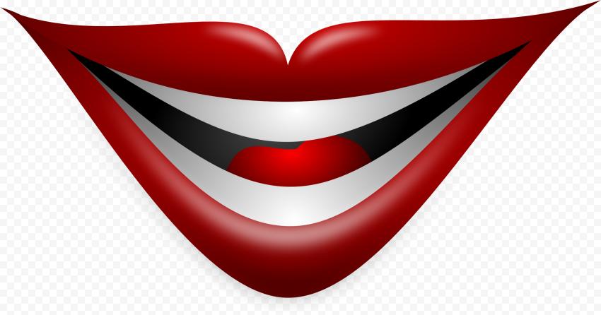 Joker Smile Lips Mouth Vector Illustration Joker Smile Vector Illustration Illustration