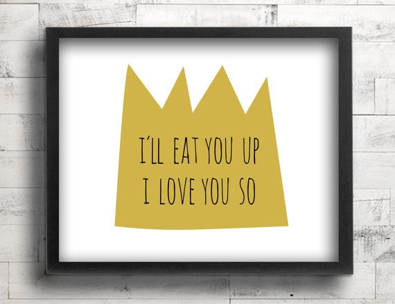 Where the Wild Things Are Nursery Decor - Baby Boy King Nursery Wall ...