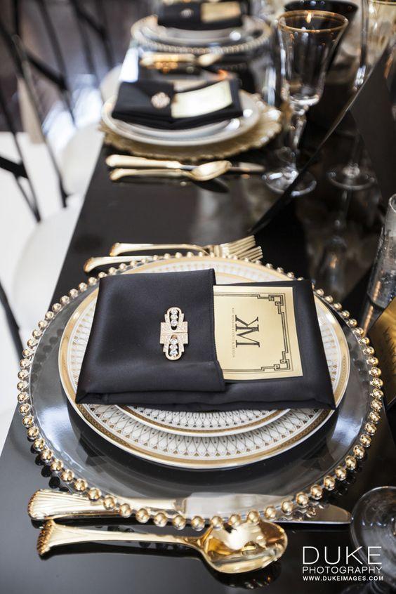 Great Gatsby | Tablesettings | Pinterest | Gatsby, Table settings ...