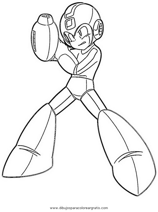 mega man coloring pages free - photo#11