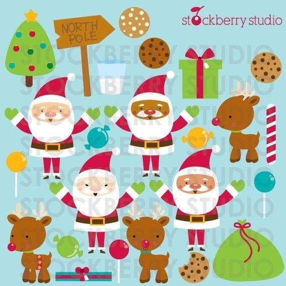 Santa Claus Personal and Commerical Use door stockberrystudio
