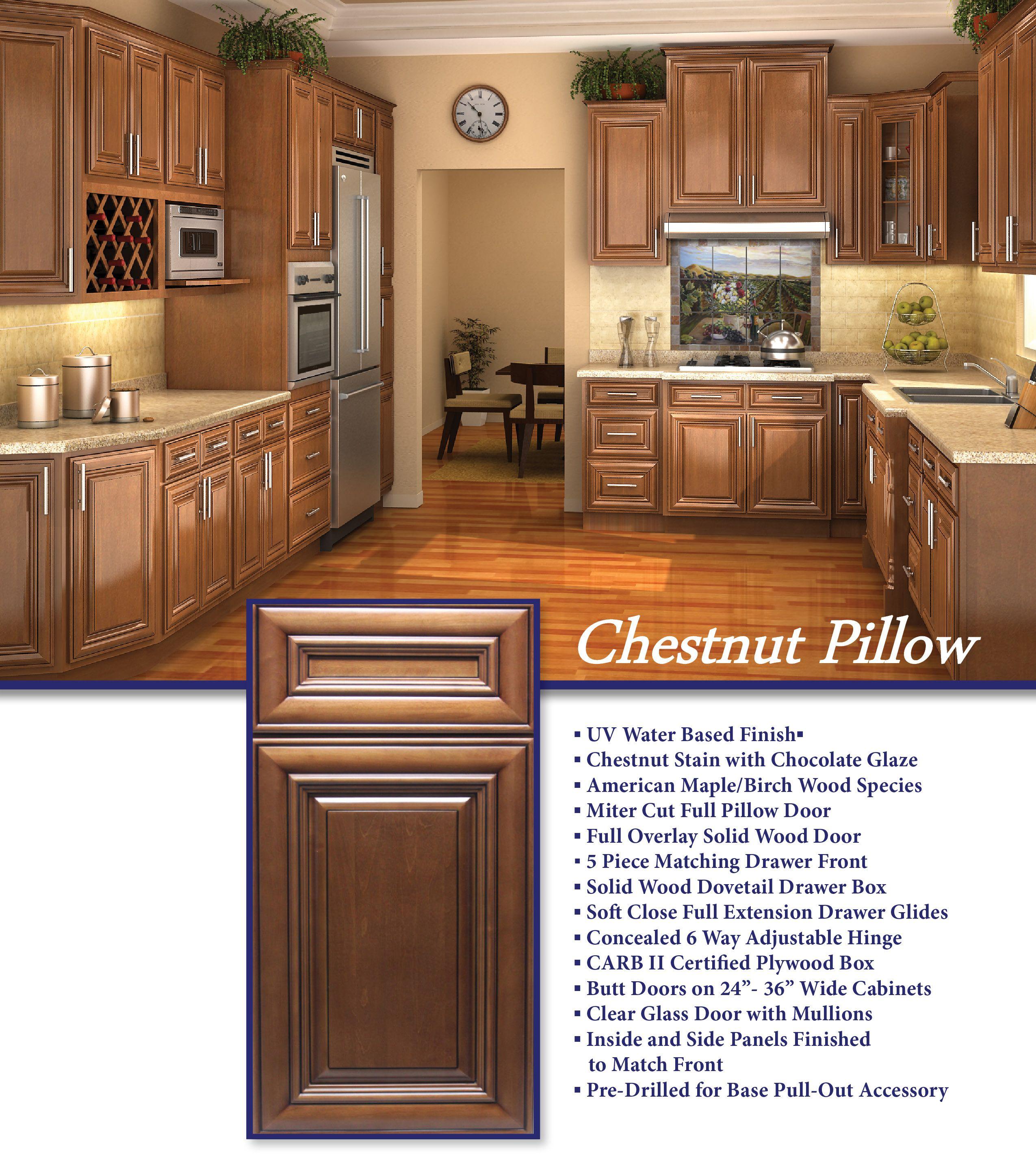 Iks Chestnut Pillow Chestnut Kitchen Cabinets Kitchen Cabinets Chestnut Kitchen