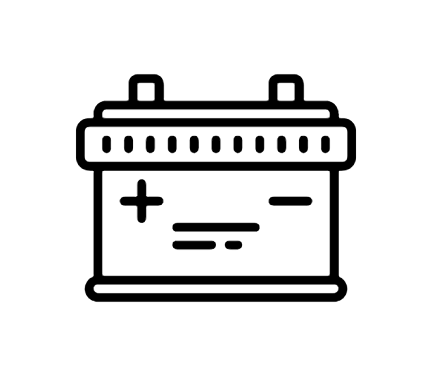 Car Battery Icon This Page Contains The Vector Icon As Well As Variations Of This Icon In Different Visual Styles And Relate Battery Icon Car Battery Battery