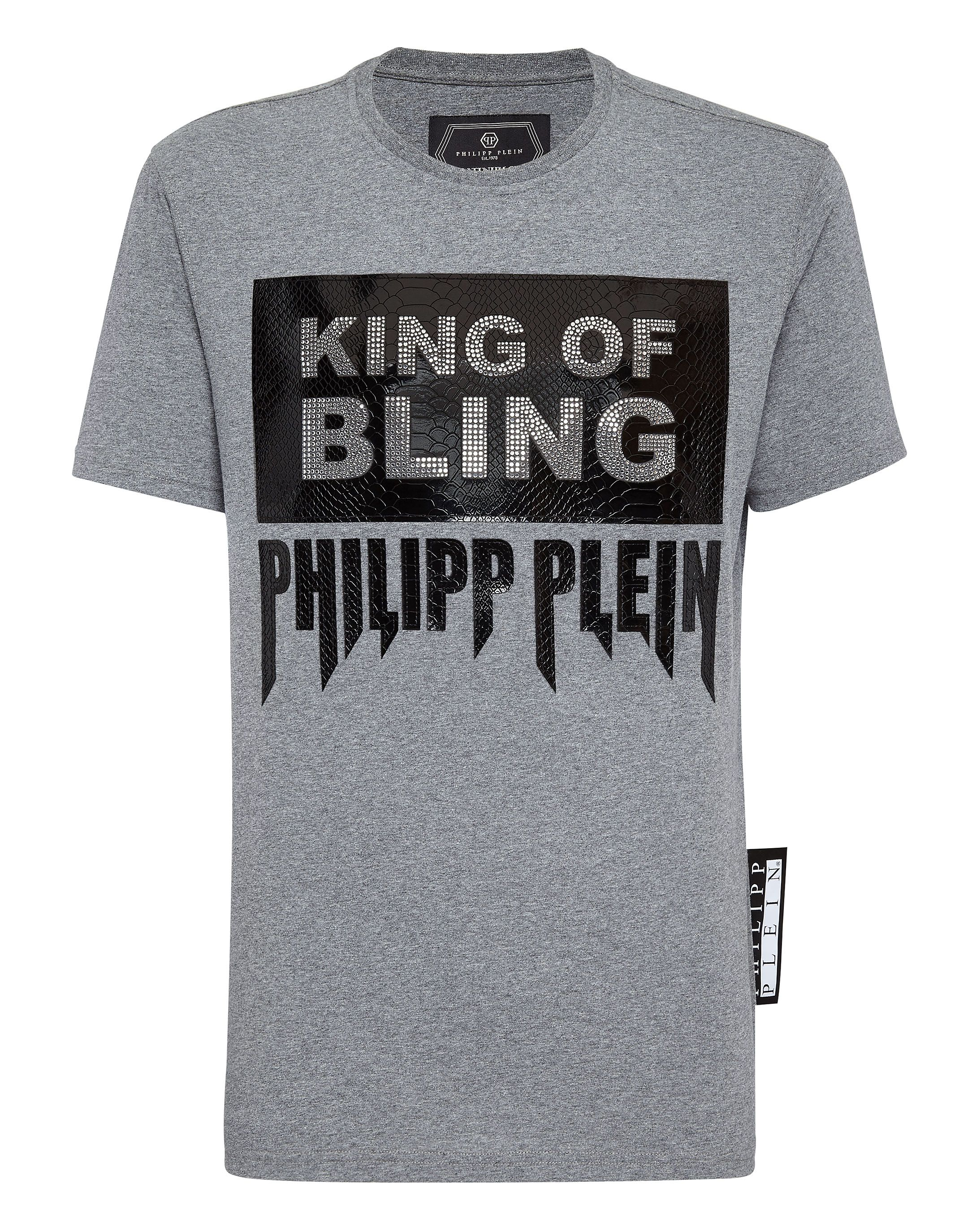 aea706dd3608 PHILIPP PLEIN T-SHIRT PLATINUM CUT ROUND NECK ROCK PP. #philippplein #cloth