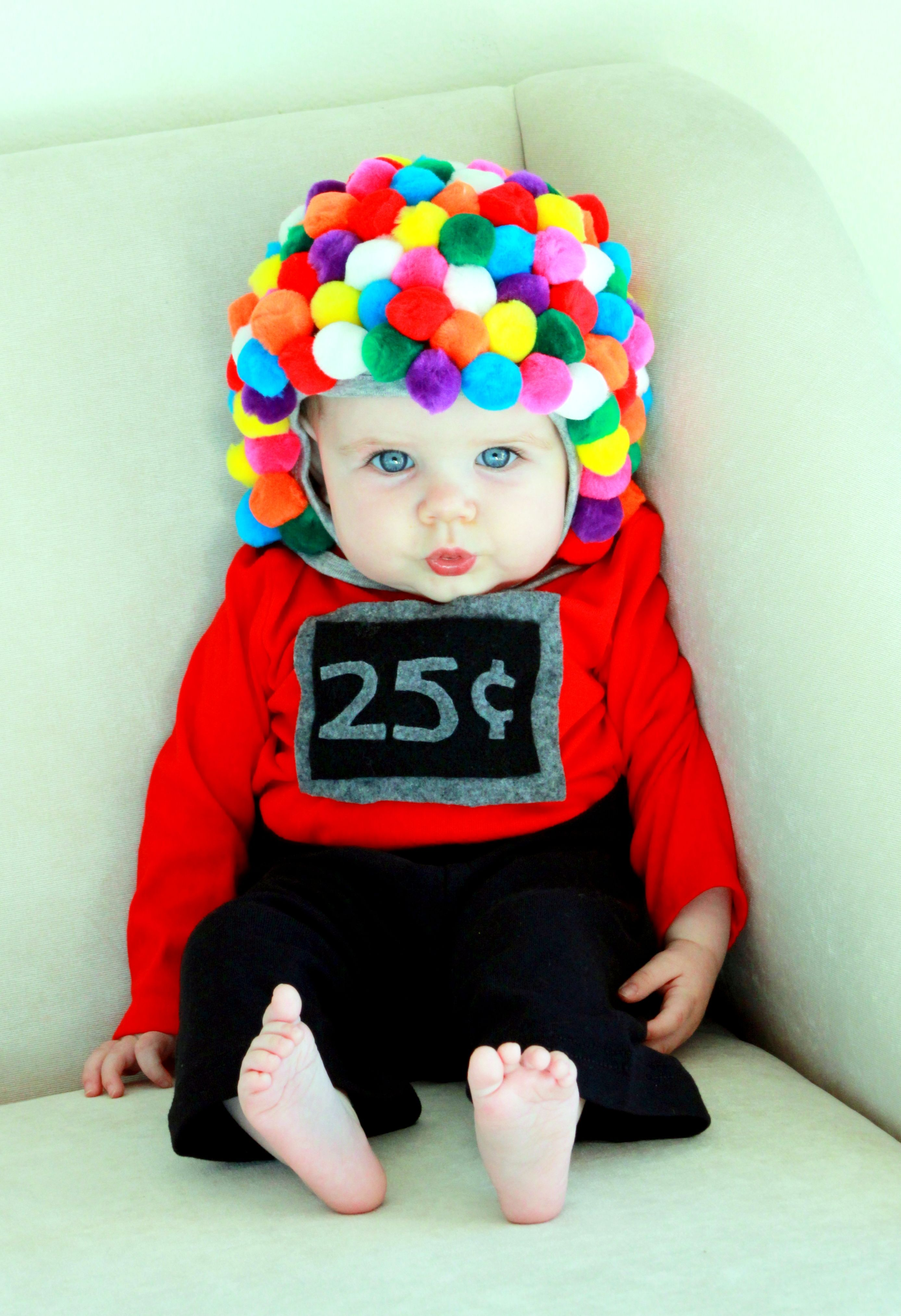 My babyu0027s first Halloween- sheu0027s going to be a gumball machine! I used a  sc 1 st  Pinterest & My babyu0027s first Halloween- sheu0027s going to be a gumball machine! I ...