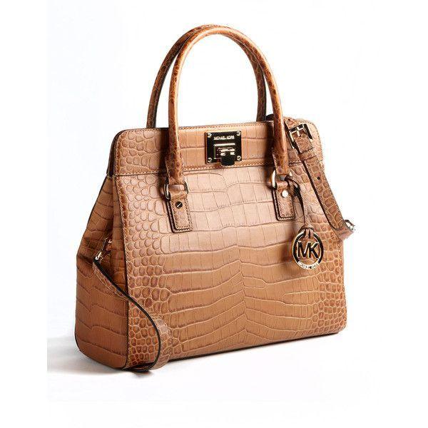 ebd1445bcef4 Michael Michael Kors Astrid Large Leather Satchel Bag ($448) ❤ liked on  Polyvore