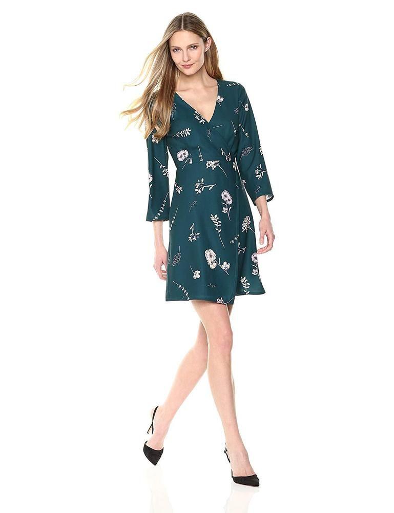 d8dd98dd40 Lark   Ro Women s Faux Wrap Short Dress  fashion  clothing  shoes   accessories