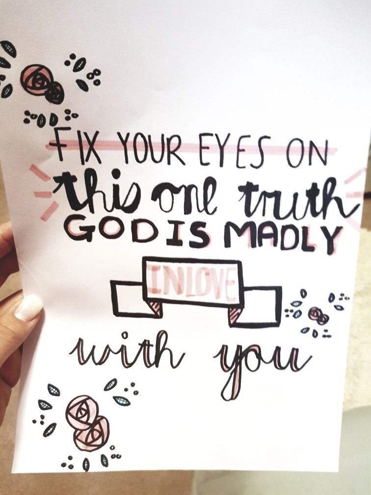 God is madly in love with you! -Hillsong United Song : Good