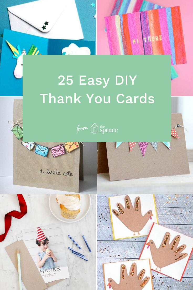 25 Easy Diy Thank You Cards Thank You Cards From Kids Thank You