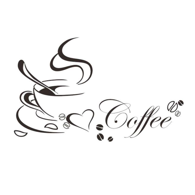 Wandtattoo Kaffee Tasse Coffee Spruch Herz Mokka Wandaufkleber Küche ...