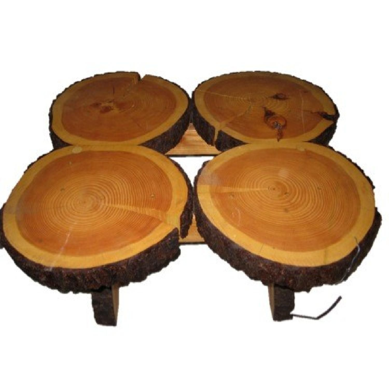 Custom pine tree trunk coffee side table aptdeco side