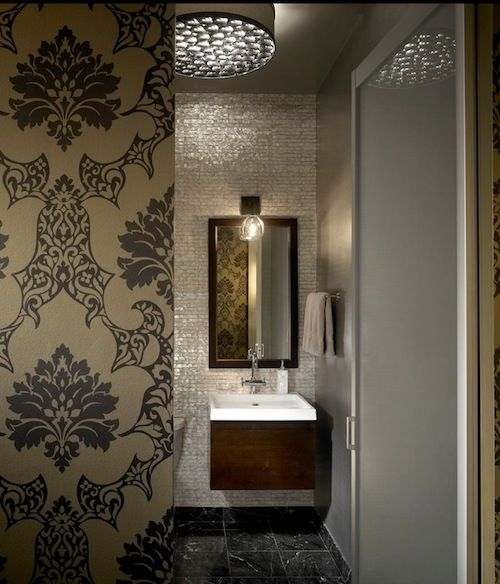 Pretty pearl tiles for the bathroom
