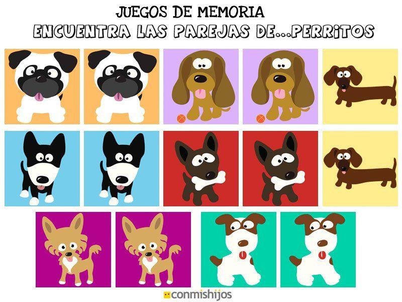 Juegos de memoria Encuentra las parejas de perritos Cosas de - new tabla periodica en memorama