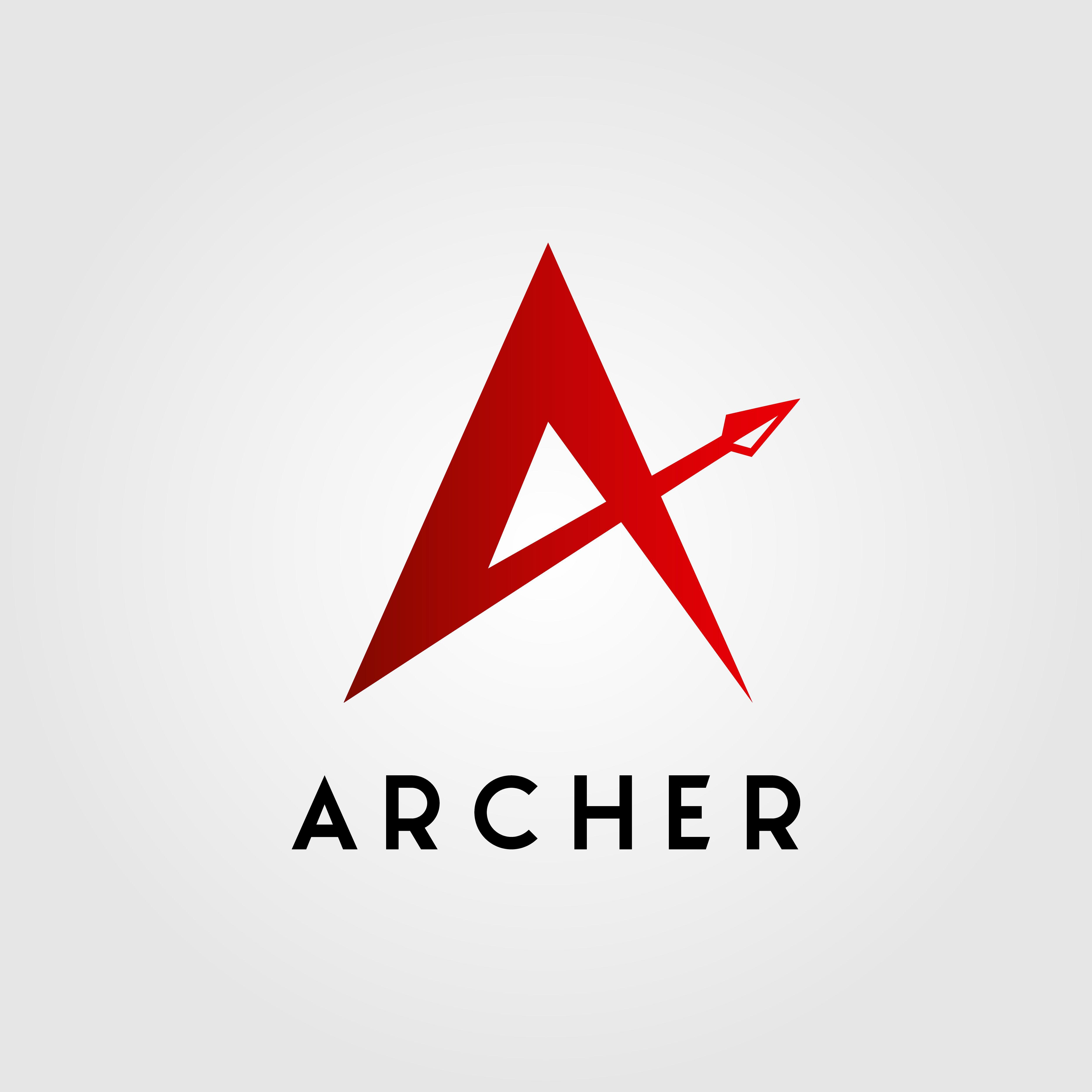 Letter A Letter A Archer Arrow Head Logo Design Vector Illustration Hard Work Up Office Abstract Background Beat Curve Disp Desain Logo Desain