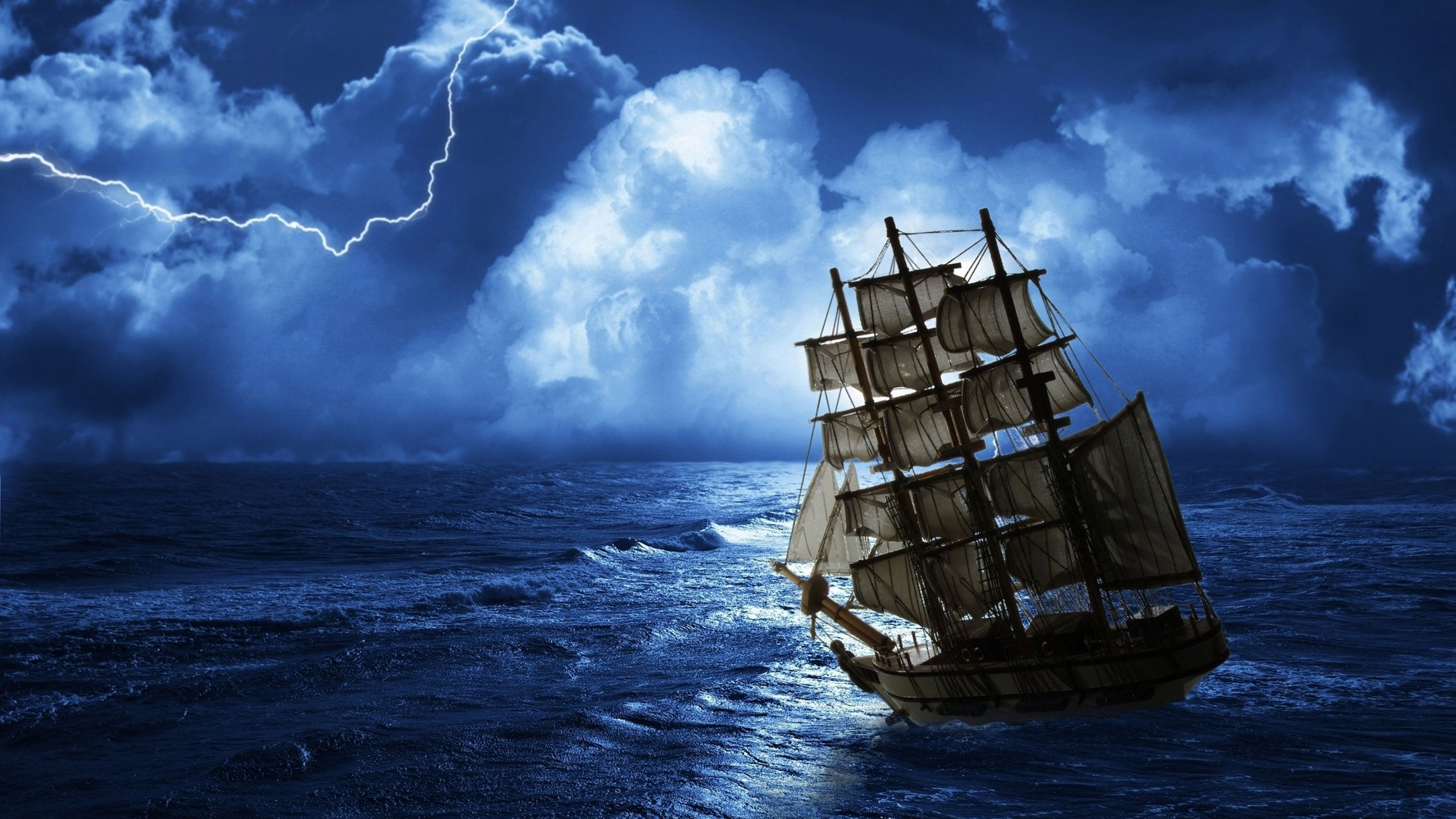 Wallpaper full desktop wallpapers images pictures storm storm clouds - Sea Ship Ghost Wallpaper Free Art Tall Ships