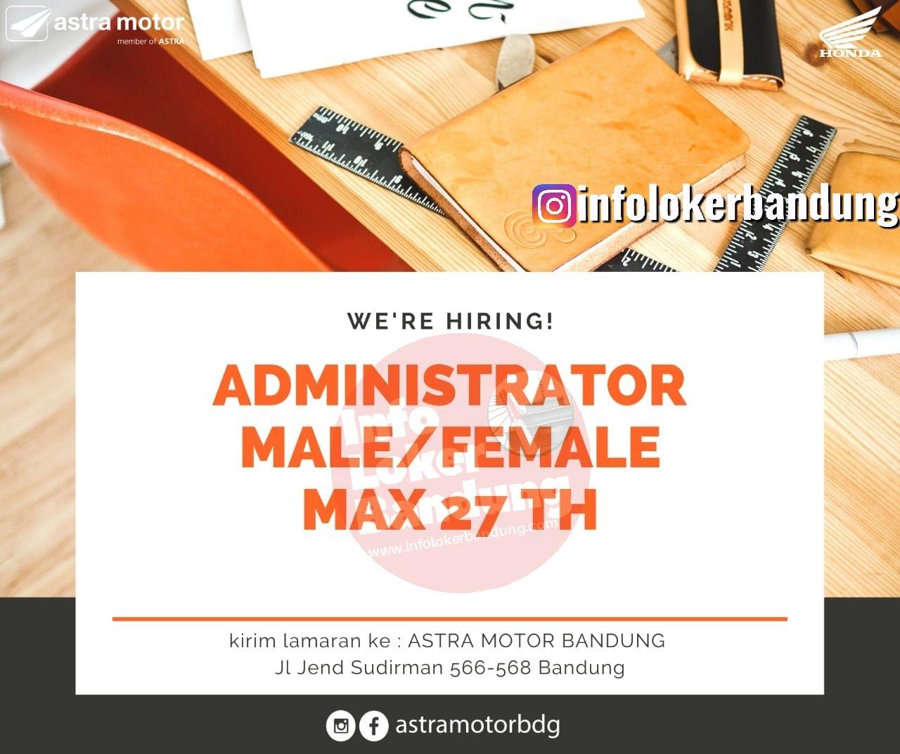 Lowongan Kerja Admistrator Dealer Astra Motor Bandung