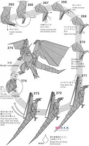 advanced origami instructions goclom origami origami creations rh pinterest com Origami Praying Mantis Diagram Advanced Origami Dragon Diagram
