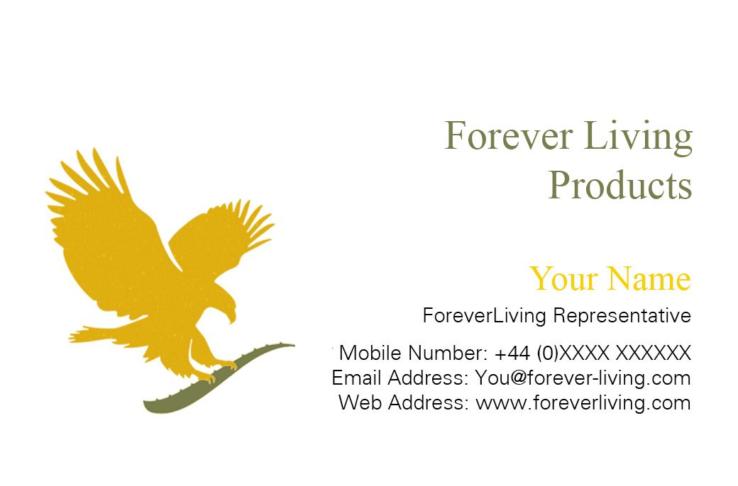 Carte De Visite Forever Living Business Card For Client Front Created By Me At Nics Designs