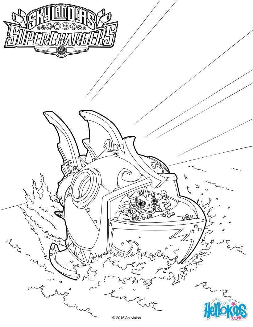 Gill Grunt Coloring Pages Skylanders Trigger Happy Coloring Pages ...