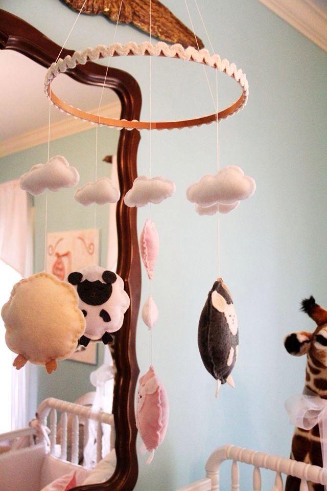 handmade sheep mobile