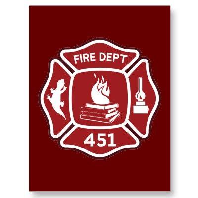 Image result for fahrenheit 451 fireman symbol