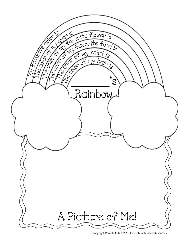 Rainbow Me Pdf Google Drive Rainbow Activities Classroom Themes School Activities [ 1035 x 800 Pixel ]