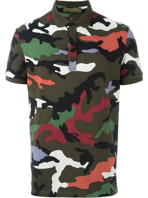 965234abbe Valentino 2016. Camouflage Polo Shirt. Young Urban Male