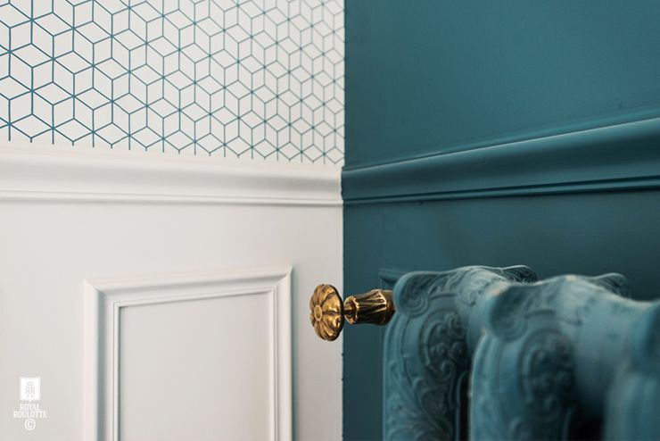 peinture et papier peint bleus Muro Pinterest - repeindre du papier peint