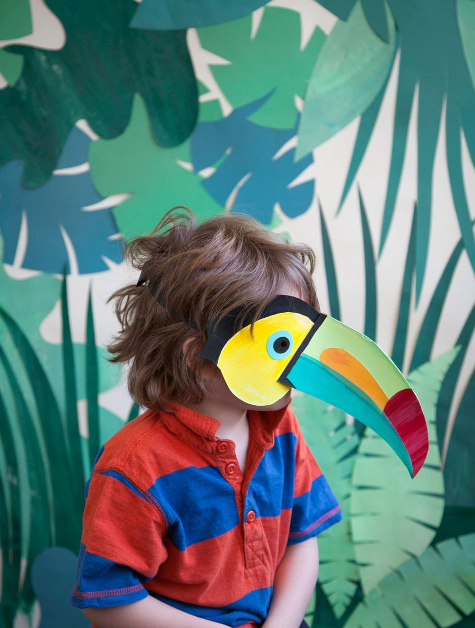 Blink Art Mask For Kids Animal Masks Toucan Craft