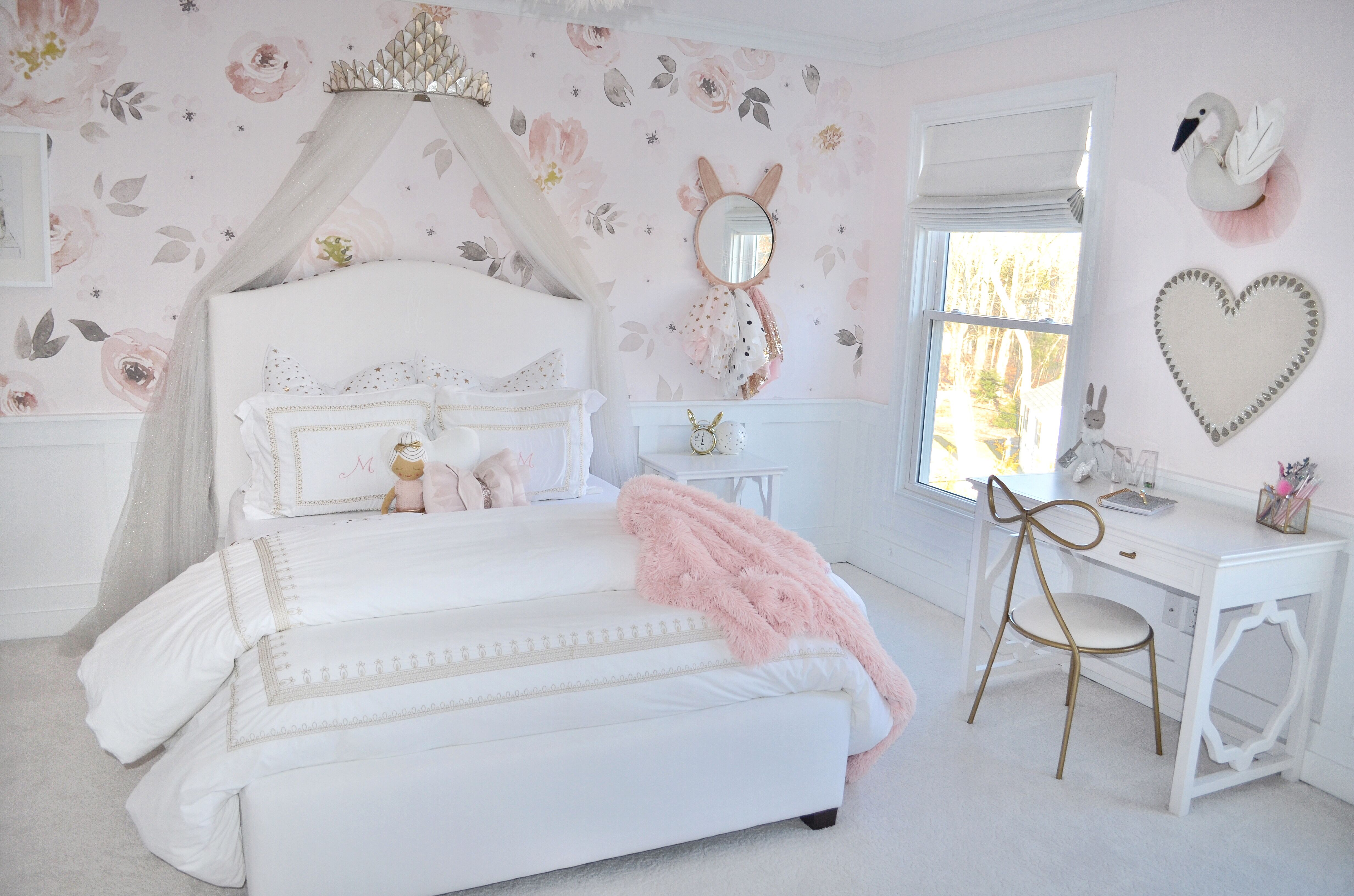Girls Bedroom Pottery Barn Kids Bed White And Blush Vintage