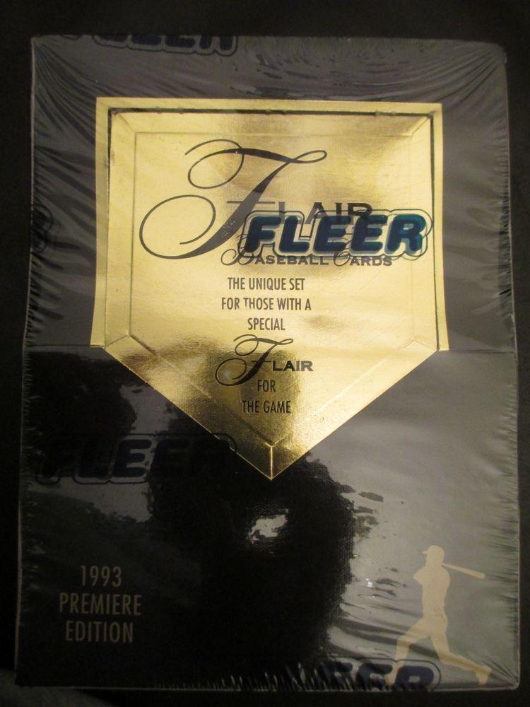 1993 FLEER FLAIR BASEBALL CARDS FACTORY SEALED BOX