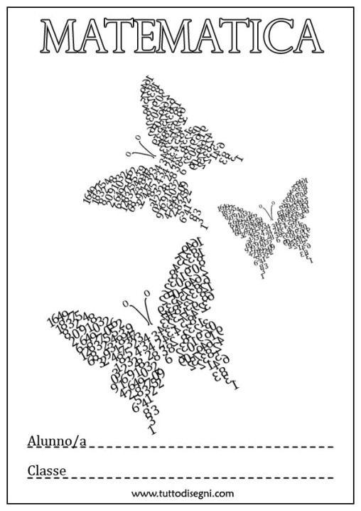Copertina Matematica Farfalle 2 Copertine Quadernoni Pinterest