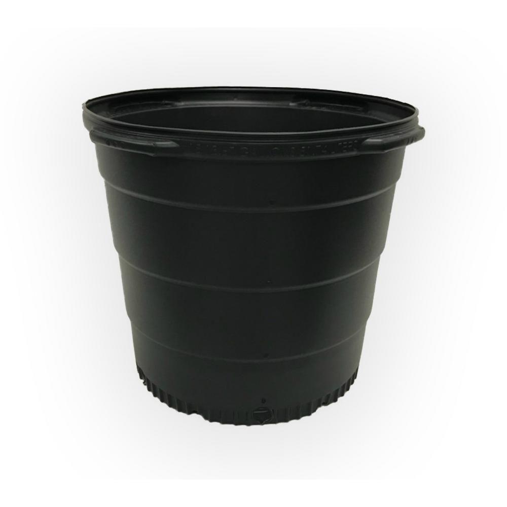 Nursery Trade Pots 7 Gal.Saucers Garden Plant Flower Herbs Round Plastic 10-Pack