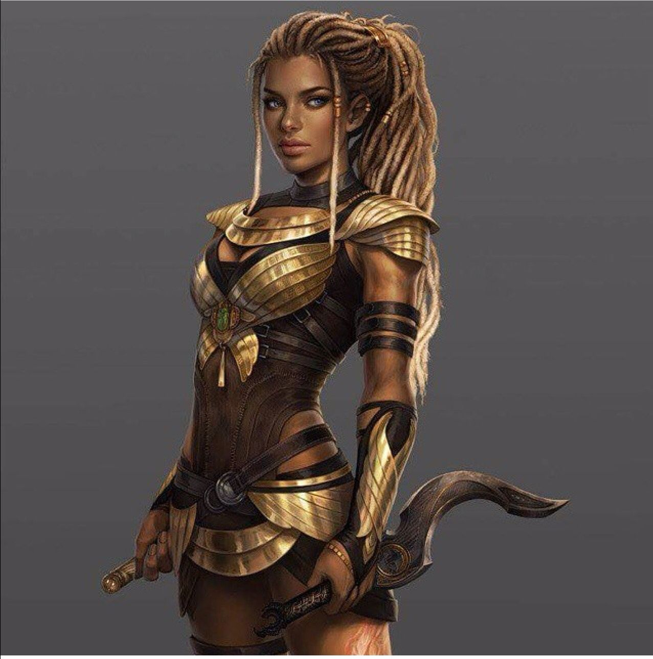 Black warrior black fantasy art in 2019 fantasy art - Fantasy female warrior artwork ...