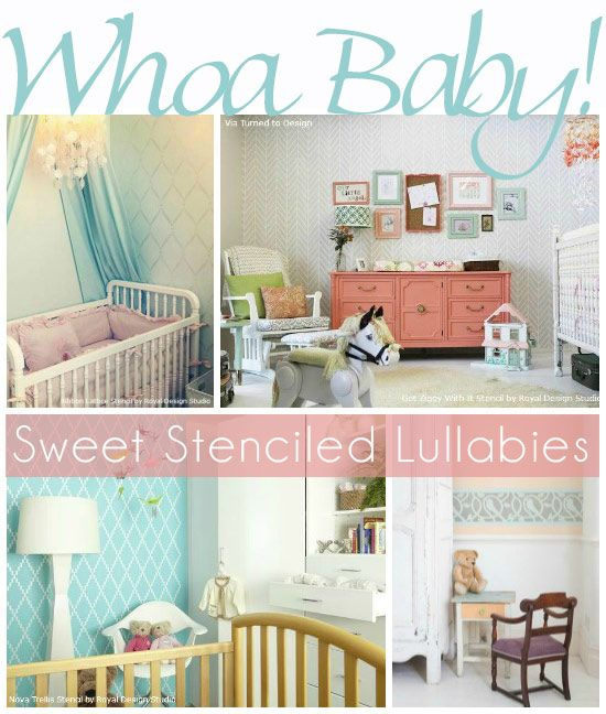 Stencil A Beautiful Nursery Feature Wall With Stencils From Royal Design Studio