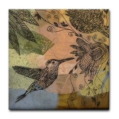 Hummingbird Tile by Beldan on Etsy