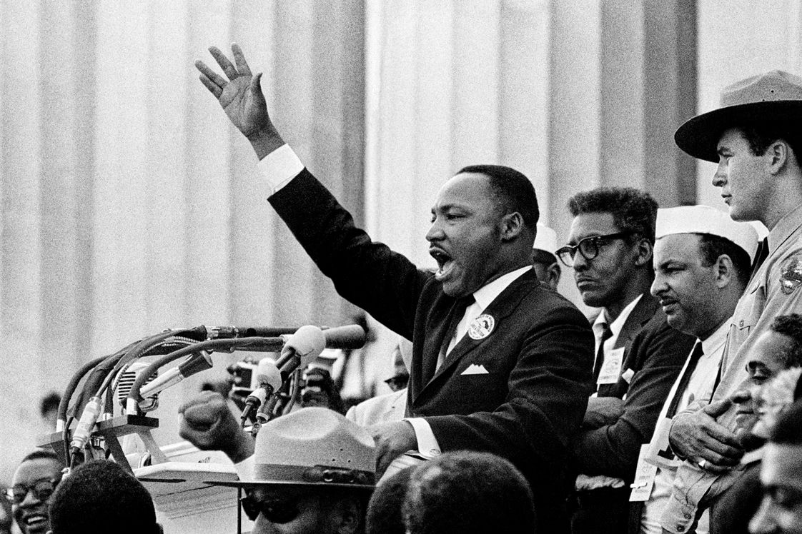 martin luther king jr delivers his i have a dream speech  martin luther king jr delivers his i have a dream speech behind