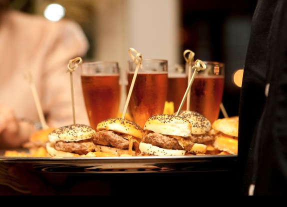 Beer and sliders, a must have for the men at the wedding! #PassingTray #HappyHour #Weddings #WeddingFood #MSL #TheLodgeAtMountainSpringsLakeResort #MadeWithLove