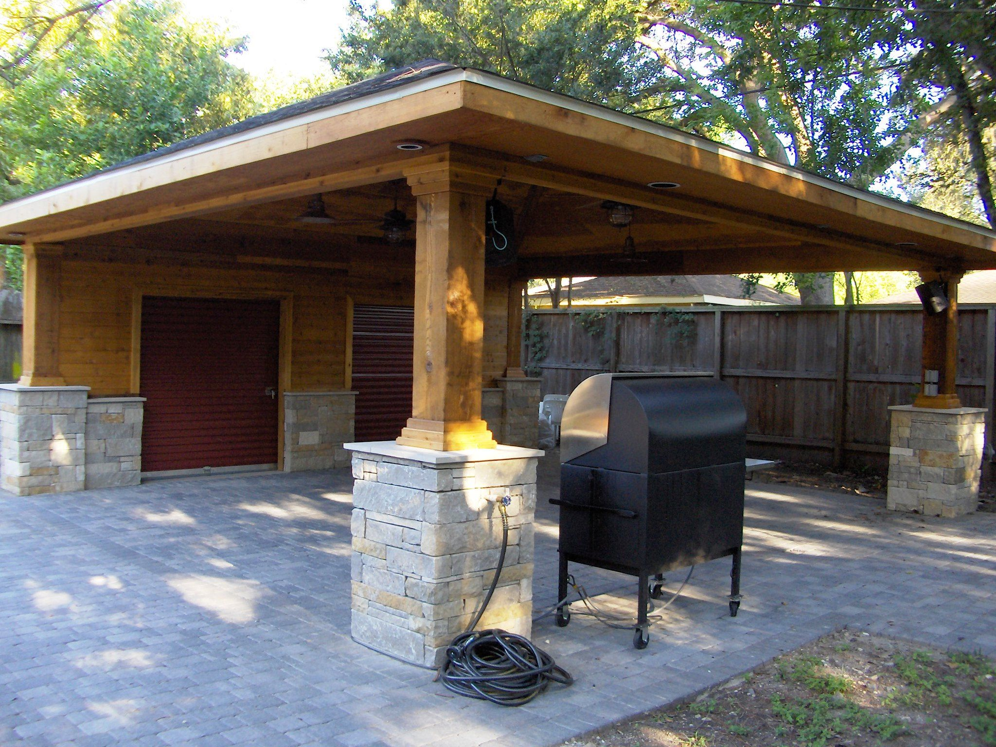 Paver Driveway with Carport and Storage 5 in 2020